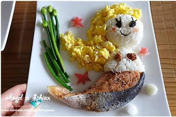 這太強大!自製美人魚鮭魚飯~不輸日本媽