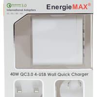 EnergieMax QC3.0四埠USB旅行充電器簡介及測試
